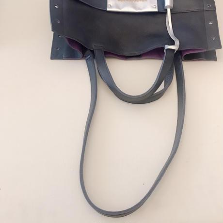 淡水パールのトートバッグ ネイビー