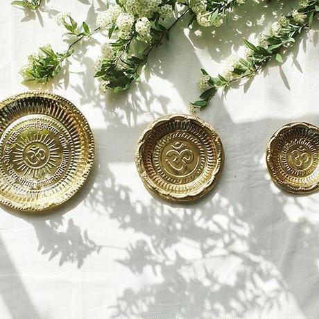 プージャ(お祈り)のお皿 【直径:約11.5cm】