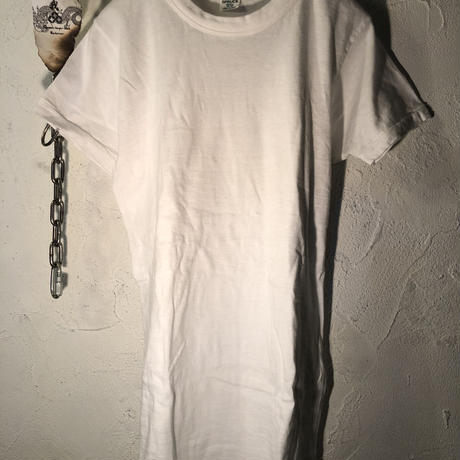 70,s MADE IN U.S.A. WHITE ストレッチコットンTee美品