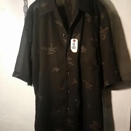 70,s GRUNGE see-through BLACK SHIRTオールド美品スペシャルプライス