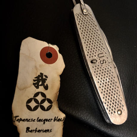 1940,s vintage U.S.A. IRON Walletchain カスタマイズパーツシリーズ25 ★U.S.MILITARY 81年製万能KNIFE