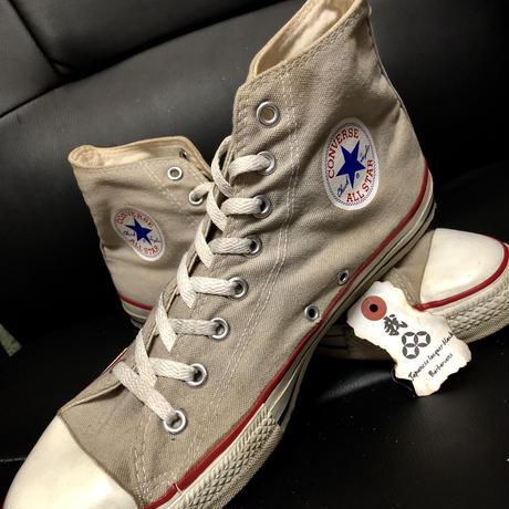 目玉希少カラー!90,s前期vintage U.S.A. ALL STAR GRAY CANVAS HI ヴィンテージ美品