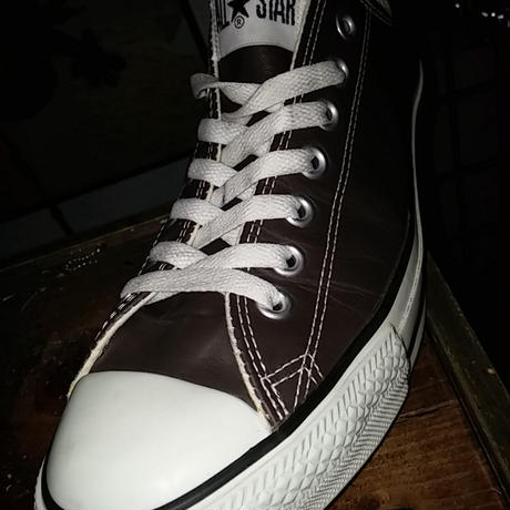 CONVERSEジャパンALL STAR LEATHER HI BROWN美品