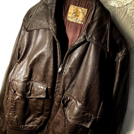 1940,s U.S.A. Golden Bear GOAT SKIN レアモデルType A-2 ヴィンテージ美品