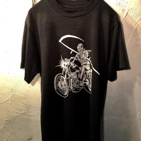 80,s U.S.A.製ヴィンテージ Skull Rider Tee