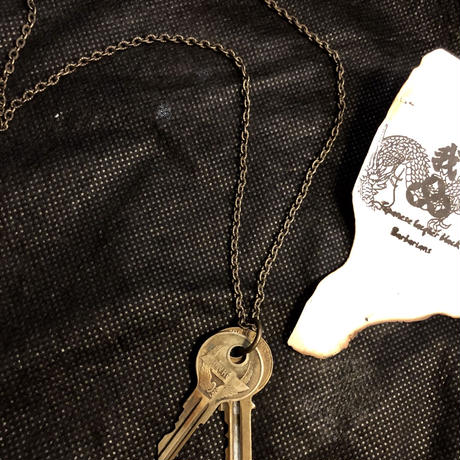 """1940,s vintage U.S.A. IRON Walletchainカスタマイズパーツシリーズ12 ★60.s vintage U.S.A. """"CHEVROLET"""" Key-necklace"""
