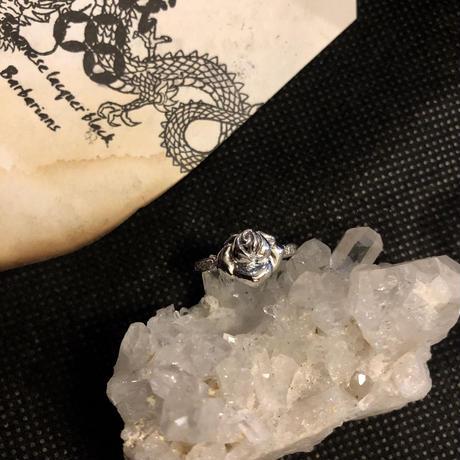 HM Jeweliet ユニセックスSILVER925 with DIAMOND HEART RING10号極上美品スペシャルプライス