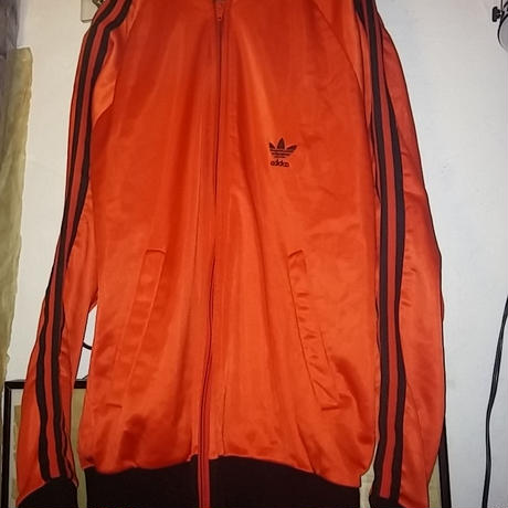 "80,s MADE IN U.S.A. adidas ""ORANGE × BLACK""  ATP TRUCK JERSEYヴィンテージ美品"