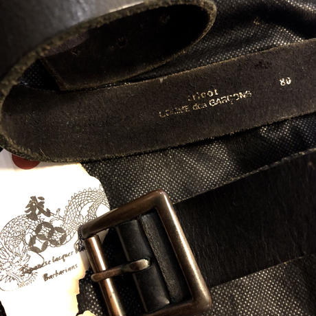 80-90,s tricot COMME des GARÇONS オールドレザーベルト
