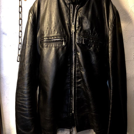 70,s vintage MADE IN U.S.A. BROOKS SINGLE RIDERS JACKET オールドTALON涙目ジッパー