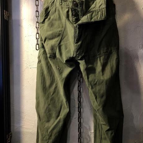 U.S.ARMY 60-70,s前期 NAM戦 レアプライベートモディファイタイトカスタマイズ UTILITY PANTSヴィンテージスペシャルプライス