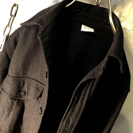U.S.NAVY 80,s C.P.O.Shirt 希少13ハーフ タイトフィットサイジング