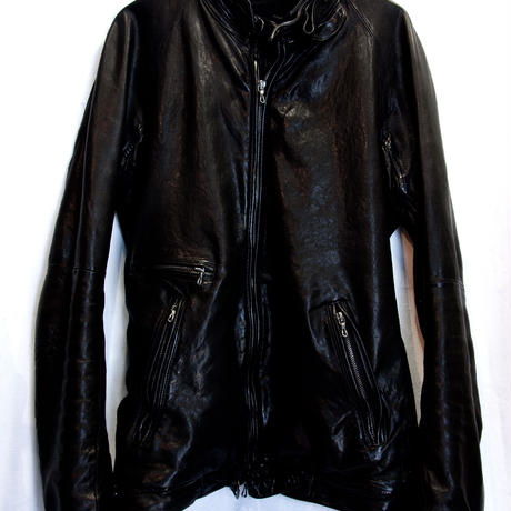 MA JULIUS 2015LAMBLEATHER SINGLE RIDERS JACKET極上美品