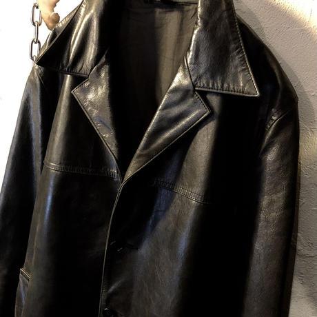 90,s Unknown LEATHER Half-coat美品スペシャルプライス