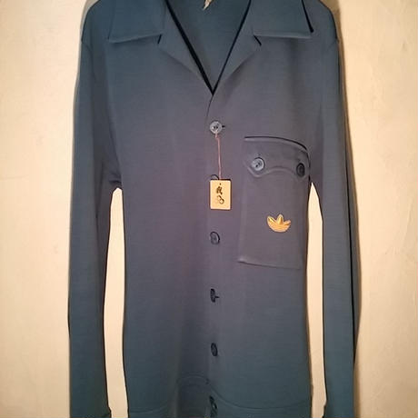 70,s vintage W.GERMANY adidas レアモデル レイクBLUE CARDIGAN JERSEYヴィンテージ美品