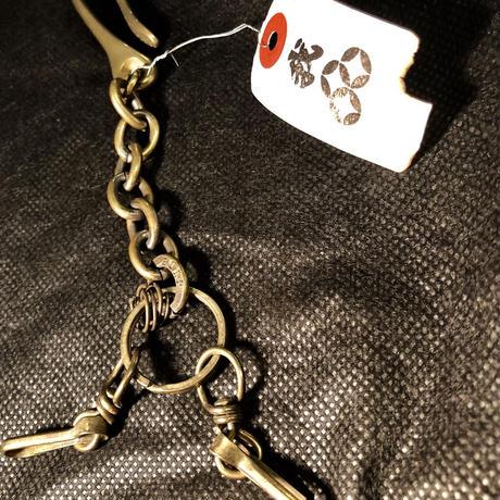 大阪インディーズアクセ JUDE 燻し加工BRASS Keychain
