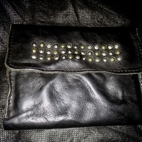 DITA LEGENDS Washable processing STUDS LEATHER WALLET美品