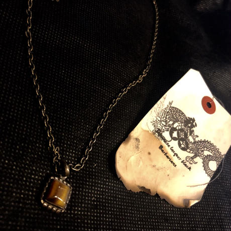 1940,s vintage U.S.A. IRON Walletchain カスタマイズパーツシリーズ37 ★60,s U.S.A. タイガーアイNECKLACE