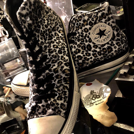 CONVERSE 15,s Limited model 起毛WHITE LEOPARD ALL STAR Hiユーズド