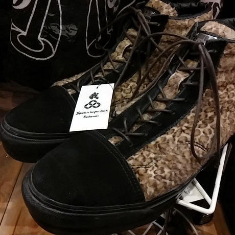 BLACKTOPMORTORCYCLE LEOPARD SNEAKERS
