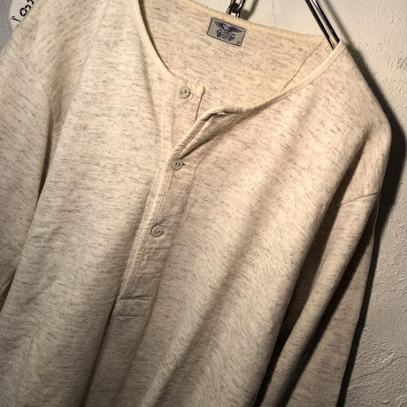 1930,s EURO Military DEAD STOCK Henley neck 五分袖Shirt