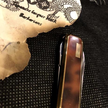 レトロ70年代日本製 大理石カラーMINI KNIFEヴィンテージ美品