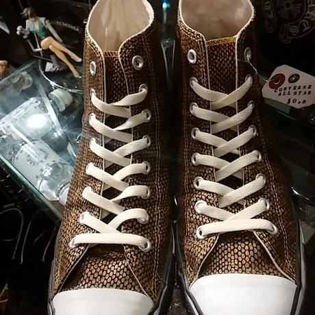 CONVERSE LIMITED MODEL 10,s ALL STAR スネークGOLD Hi 極上美品
