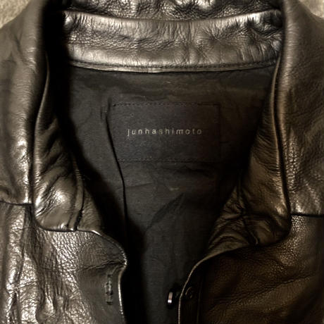 junhashimoto washable processing Leather Shirt 2
