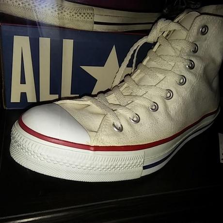 90,s vintage U.S.A. ALL STAR NATURAL CANVAS HI 完全無欠BOX付デッドストックスペシャルプライス