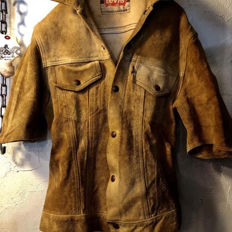 希少カットソー(半袖)モデル!LEVI'S 60,s vintage ラフアウトレザージャケット