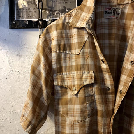 60,s vintage U.S.A. LEVI'S DAN RIVER Western Shirtヴィンテージスペシャルプライス
