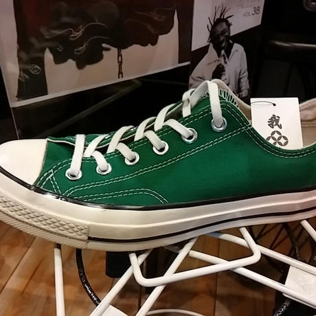 U.S. PRODUCT Chuck Taylor70,s CANVAS LOW GREEN極上未使用品