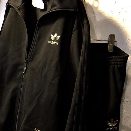 adidasジャパン正規品オールドモデル2004 ALL BLACK SET-UP CLUBBER JERSEY SUITS 極上美品スペシャルプライス目玉アイテム