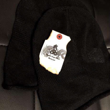 BLACK LINEN CAP 19SS override 商品タグ付き未使用品①