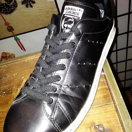 adidas セレクトSHOPハイライン STAN SMITH BLACKゴールデンサイズ美品