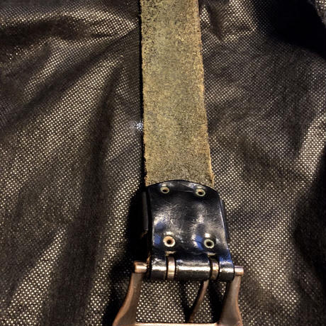 90,s初期 Unknown LEATHER BELT美品目玉アイテム