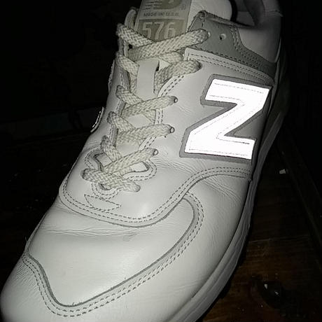 レア U.S.A.製M576 new balance LEATHER WHITE極上美品