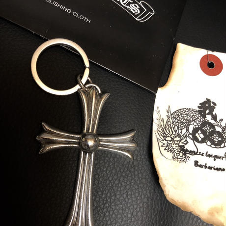 Chrome Hearts LARGE CH CROSS KEYRING