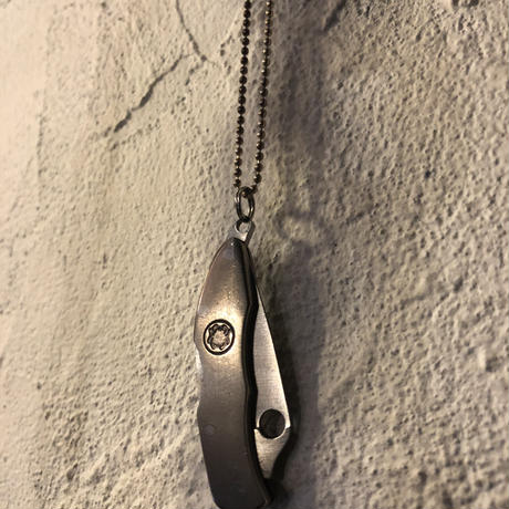 Mini ARMY KNIFE charm × SILVER925 Ballchain カスタマイズNECKLACE