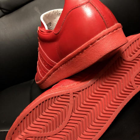adidas オールドモデル2012 SUPER STAR ALL REDユーズド美品