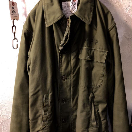 80,s vintage U.S.NAVY A-2 DECK Jacket ヴィンテージ美品