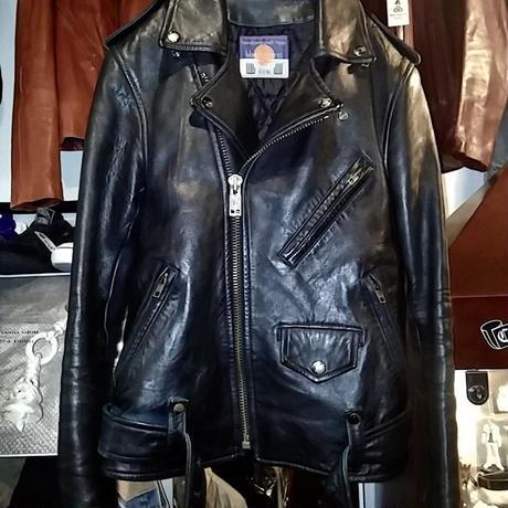 ハードコア注目ブランド blackmeans  青芯後染めブラック SHEEPLEATHER RIDERS JACKET美品