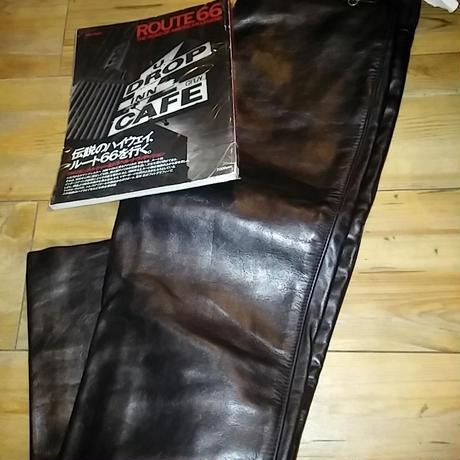 vanson オールドモデルU.S.A. BACK ZIPPER COWLEATHER PANTS極上美品31