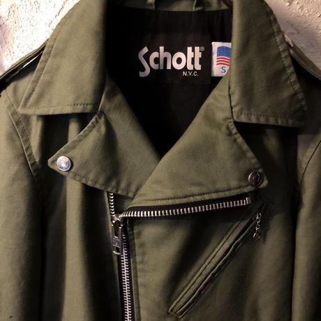 Schott cotton RIDERS Jacket OLIVE極上美品S