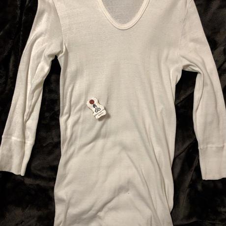 70,s EURO Military U-NECK 七分袖Shirt 美品