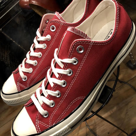 U.S.PRODUCT  Chuck Taylor70,s Burgundy 三ツ星ヒールパッチCANVAS Low 極上未使用品