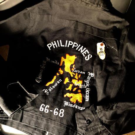 1960,s ヴィンテージ フィリピンマップDRIZZLERデッドストック