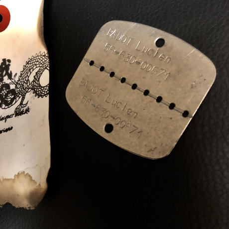 1940,s vintage U.S.A. IRON Walletchain カスタマイズパーツシリーズ❺ ★50,s vintage U.S.A. Military SUS刻印BOARD