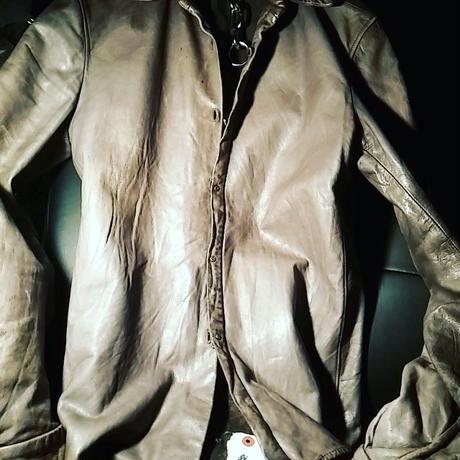 伝説ITALYモードCarpe Diem初期2002Calf Leather Shirt