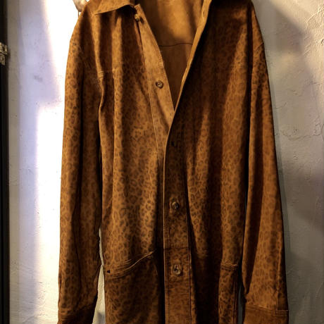 Rock'n Roll LEOPARD 70,s 欧米製Unknown GOAT SUEDE LEATHER Long-jacketヴィンテージスペシャルプライス